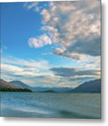 Colorful Clouds At Golden Hour On Lake Wakatipu At Glenorchy, Nz  Metal Print