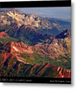 Colorful Colorado Rocky Mountains Planet Art Poster  Metal Print