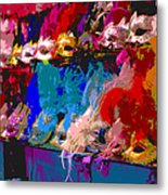 Colorful Costume Masks Metal Print