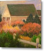 Colorful Cottage Cape Cod Metal Print