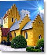 Colorful Danish Church Metal Print