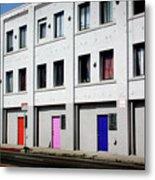 Colorful Doors- By Linda Woods Metal Print