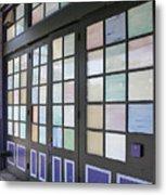 Colorful Doors Metal Print