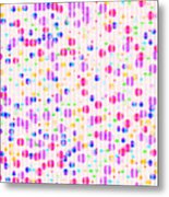 Colorful Dots On Pink Metal Print