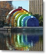 Colorful Downtown Orlando Metal Print