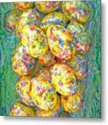 Colorful Eggs Metal Print