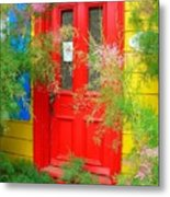 Colorful Entrance ... Metal Print