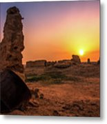 Colorful Evening In The Ruined World.. Metal Print