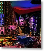 Colorful Evening Shadows Metal Print