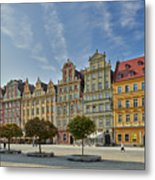 colorful facades on Market Square or Ryneck of Wroclaw Metal Print