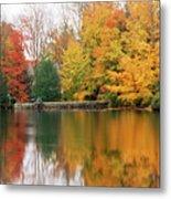 Colorful Fall Foliage Ossipee Lake New Hampshire Metal Print