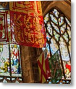 Colorful Flags And Stained Glasss Windows Metal Print