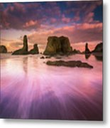 Colorful Flux From Seastacks Metal Print