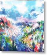 Colorful Forest 5 Metal Print