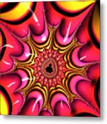 Colorful Fractal Art With Candy-colors Metal Print