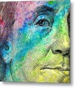 Colorful Franklin Metal Print