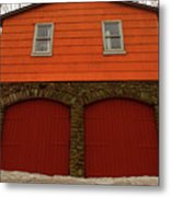 Colorful Garage Metal Print