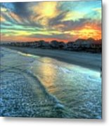 Colorful Garden City Sunset Metal Print