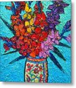 Colorful Gladiolus Metal Print