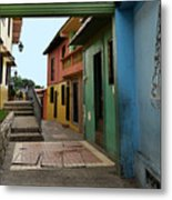 Colorful Guayaquil Alley Metal Print