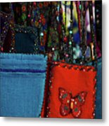 Colorful Hanging Pouches Metal Print