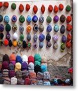 Colorful Hats Metal Print