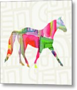 Colorful Horse 1- Art By Linda Woods Metal Print