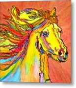 Colorful Horse Metal Print