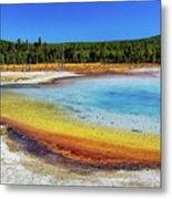 Colorful Hot Spring In Yellowstone Metal Print