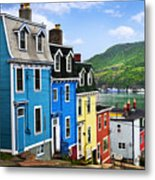 Colorful Houses In St. John's Metal Print