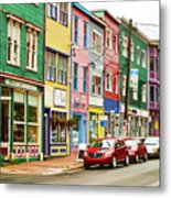 Colorful Houses In St Johns In Newfoundland Metal Print