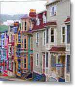 Colorful Houses In St. Johns, Nl Metal Print
