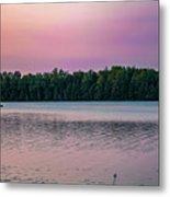 Colorful Lake-side Sunset Metal Print