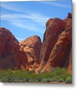 Colorful Landscape Rock Mountains Of Overton Nevada  Metal Print