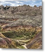 Colorful Layered Mountains  Metal Print
