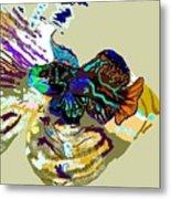 Colorful Manderin Fish Metal Print