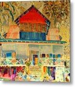 Colorful Mauritiun Cottage Metal Print
