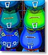 Colorful Mexican Guitars Metal Print