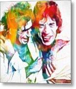 Colorful Mick And Keith Metal Print
