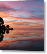 Colorful Morning Mirror - Spectacular Sky Reflections At Dawn Metal Print