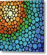 Colorful Mosaic Art - Blissful Metal Print