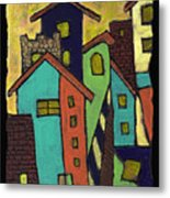 Colorful Neighborhood Metal Print