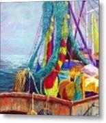 Colorful Nets Metal Print