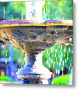 Colorful New Orleans Fountain Metal Print