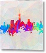 Colorful New York Skyline Metal Print