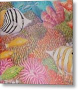 Colorful Ocean Metal Print