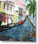 Colorful Old San Juan Metal Print by Luis F Rodriguez