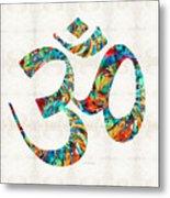Colorful Om Symbol - Sharon Cummings Metal Print