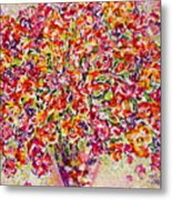 Colorful Organza Metal Print