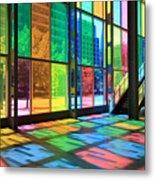 Colorful Palais Des Congres Montreal Canada Metal Print